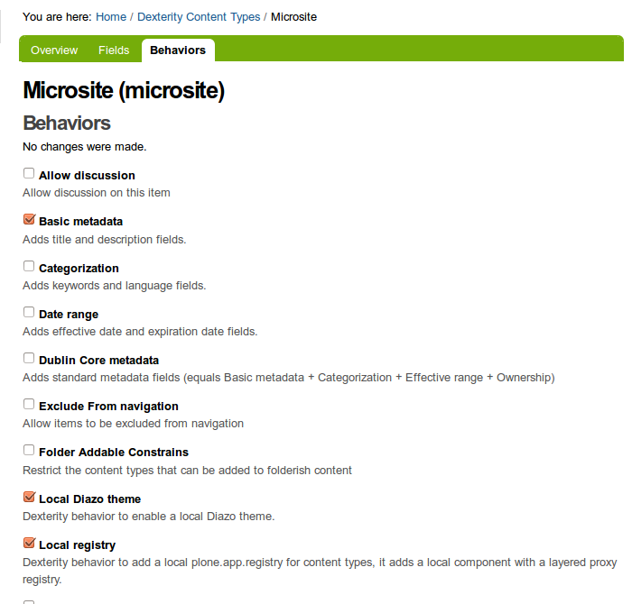 Behaviors Themes — Plone theming suite 0 1 documentation
